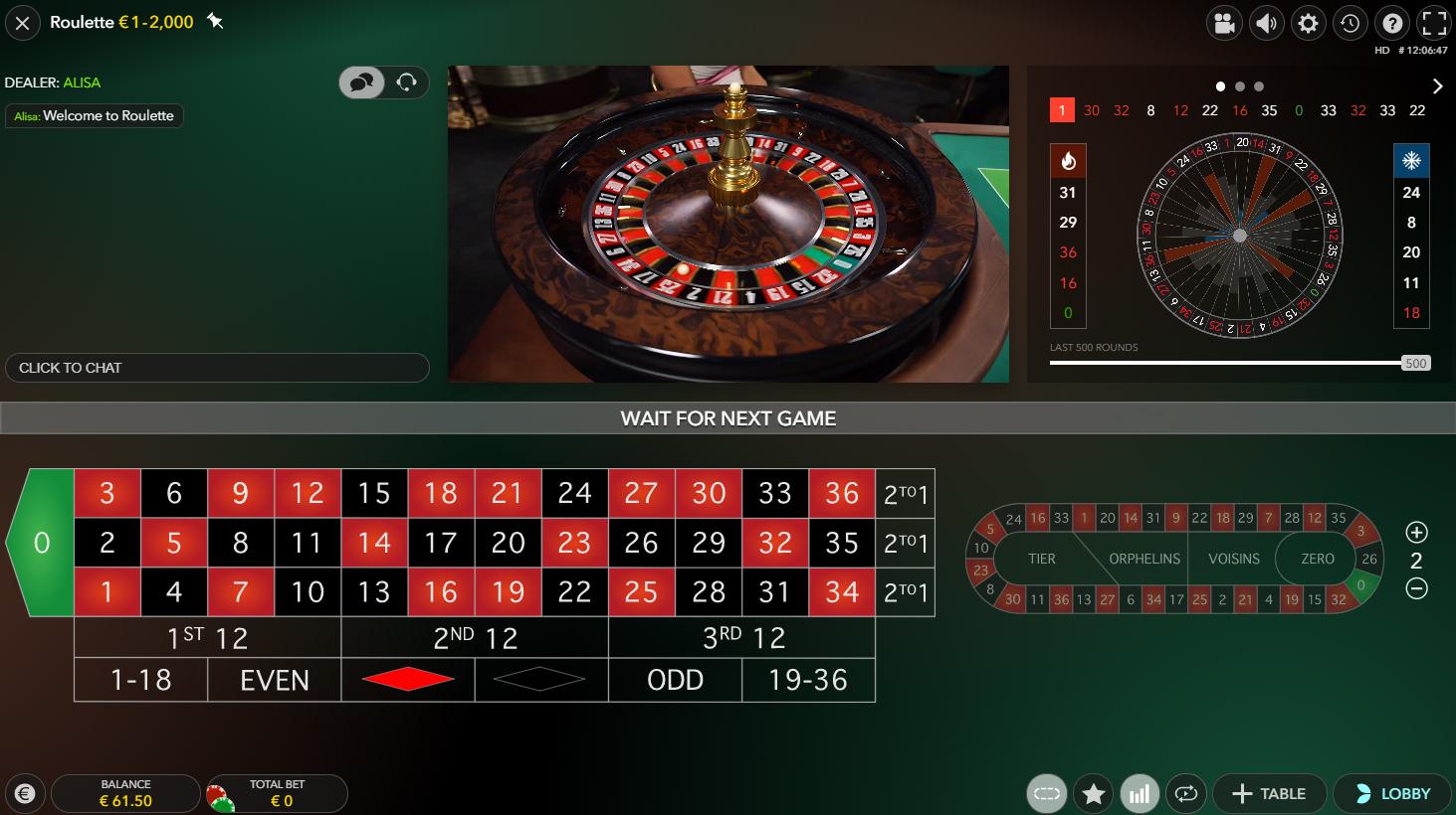 Live roulette evolution gaming