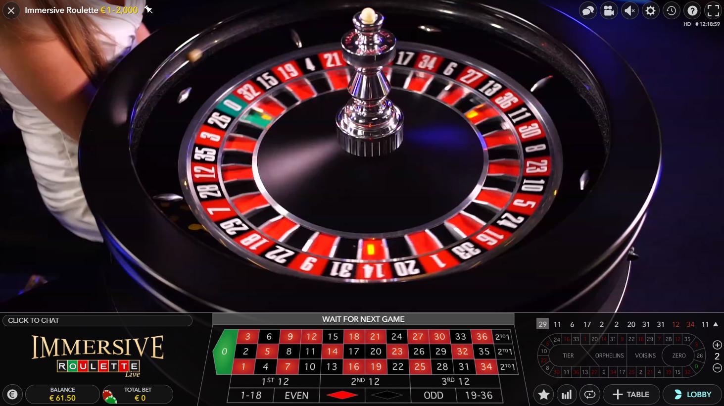 immersive roulette evolution