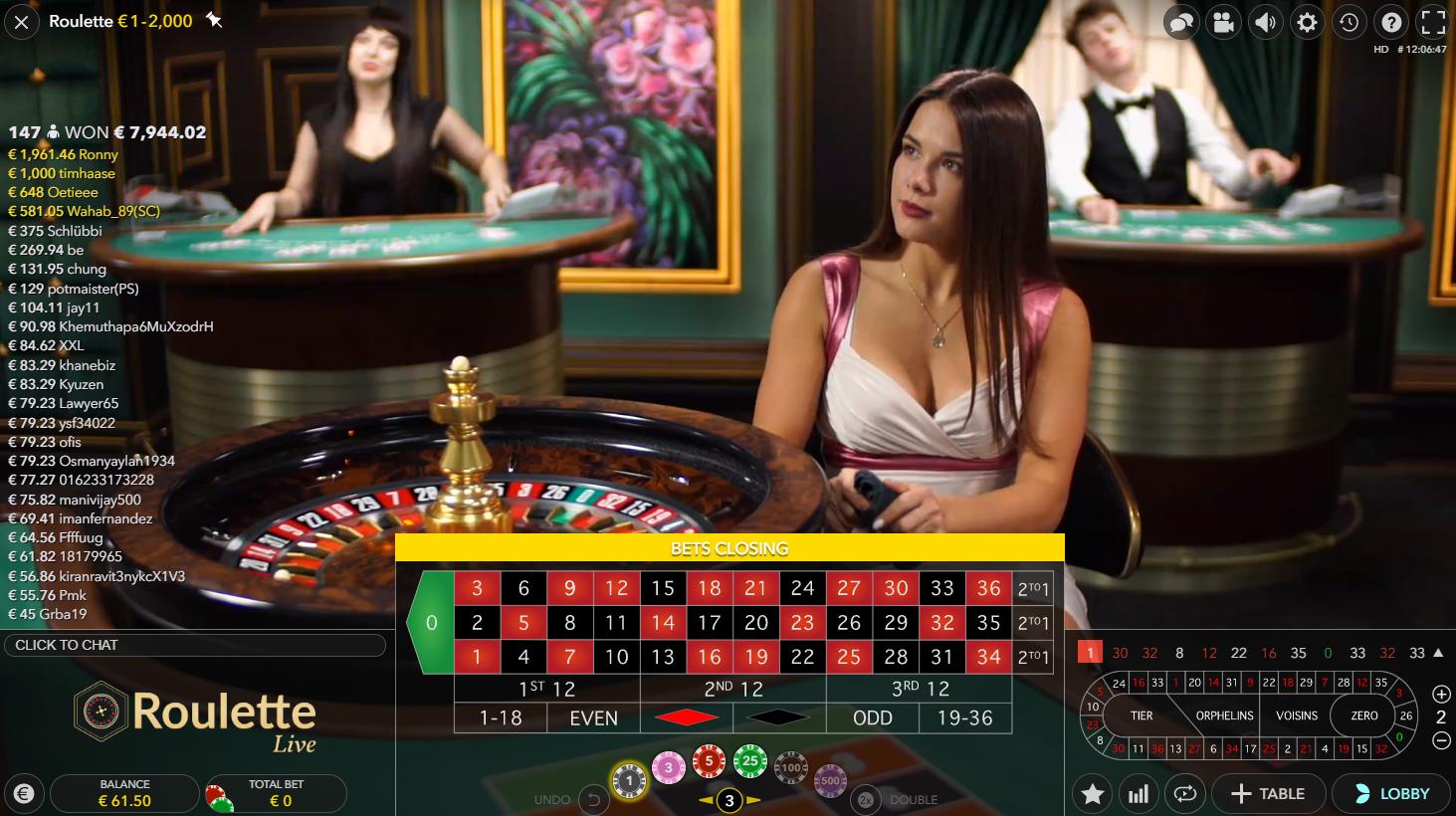live roulette evolution