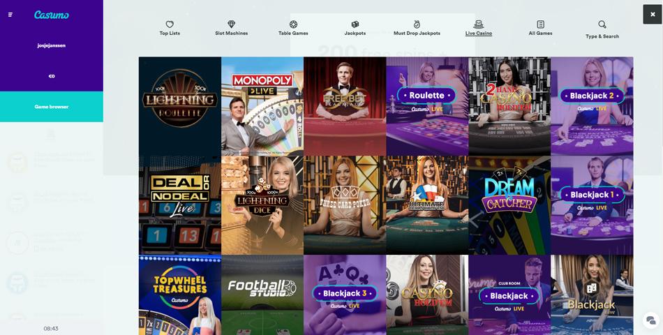 casumo live casino review