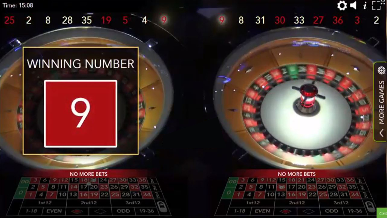 Authentic Roulette Double Wheel demo2