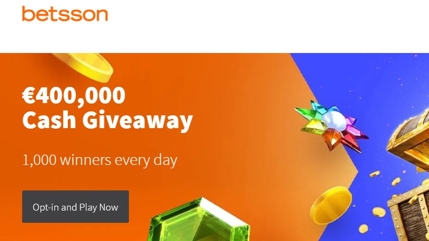 Win a Cash Prize Every Day Throughout September with Betsson's €400,000 Cash Giveaway