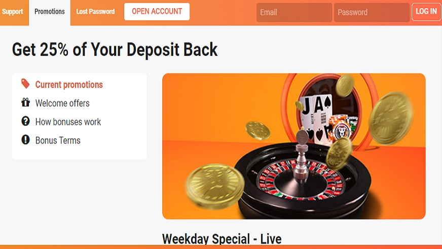 LeoVegas Casino Has Started Running a New Weekday Special Live Promotion!