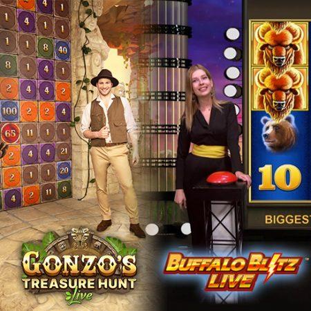Gonzo's Treasure Hunt & Buffalo Blitz Live vergeleken